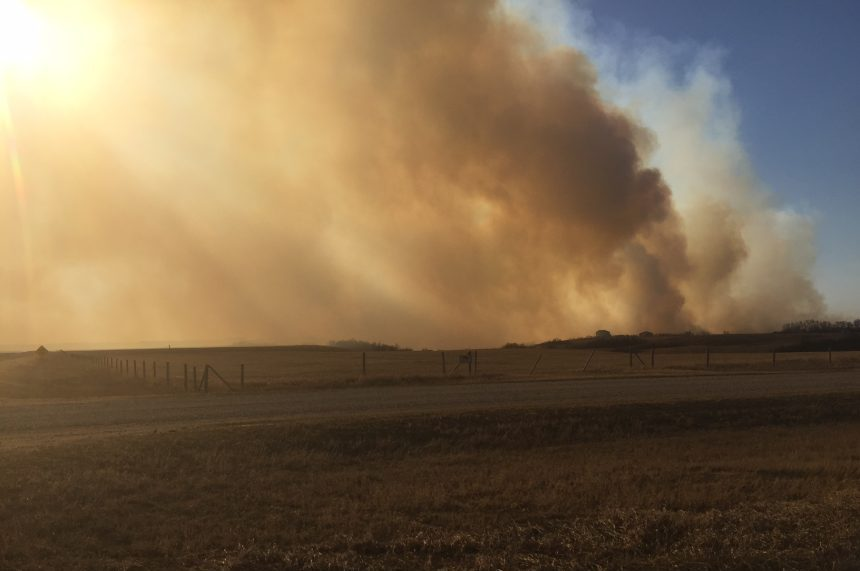 Fire ban in place following grass fire near Lumsden