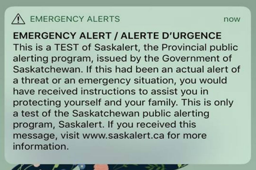 Did you get it? Emergency alerts inconsistent across Sask.