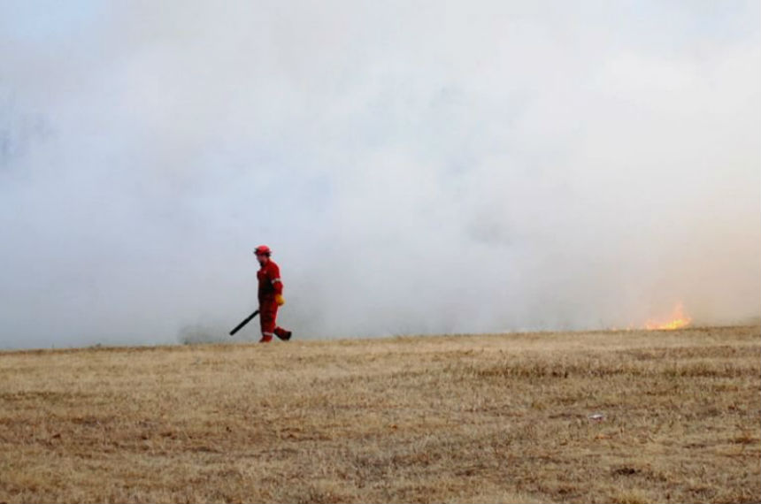 Blazing bunny turns controlled burn into wildfire