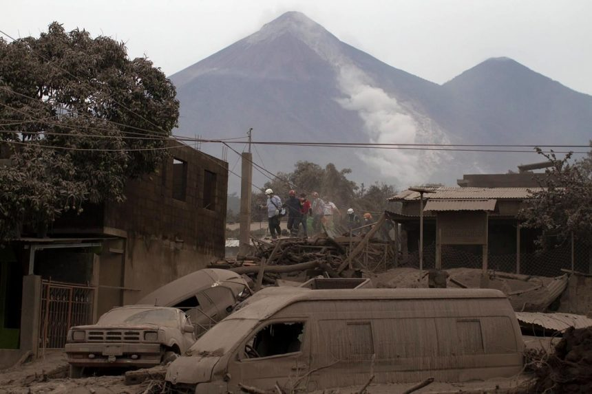 Drone footage reveals devastation after Fuego volcano eruption