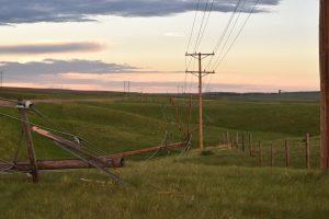 wind storm power poles 3 - Coronach - June 4 2018 - Billy Gossen