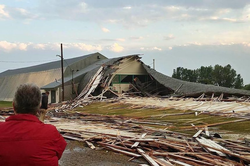 Strongfield curling rink destroyed in Thursday storm