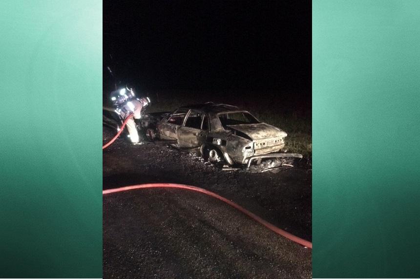 RCMP investigate Vanscoy car fire