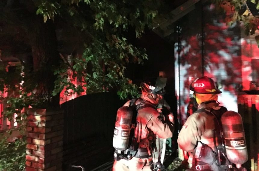 Heavy damage following early morning house fire