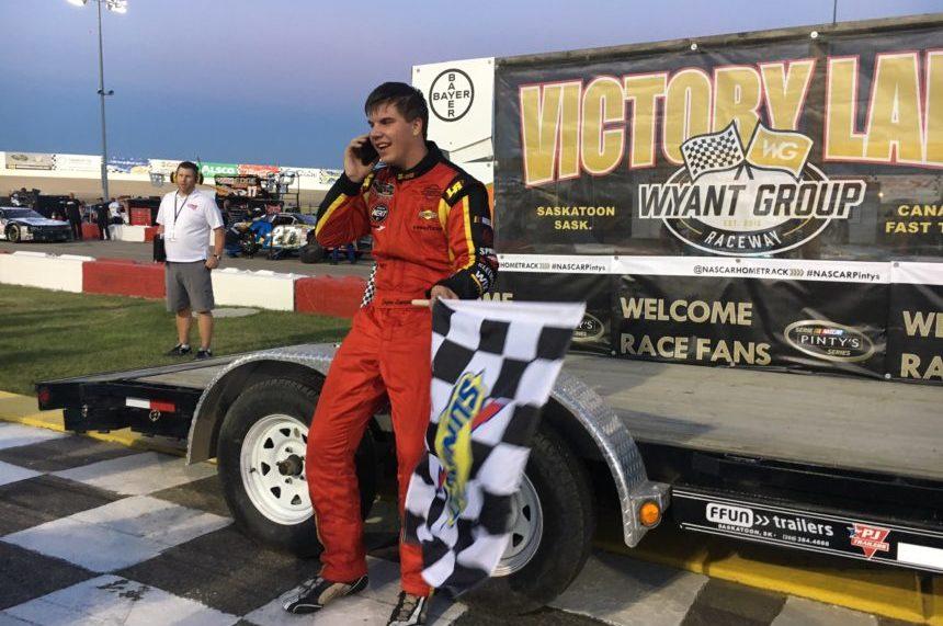Lapcevich wins 2nd NASCAR race in Saskatoon
