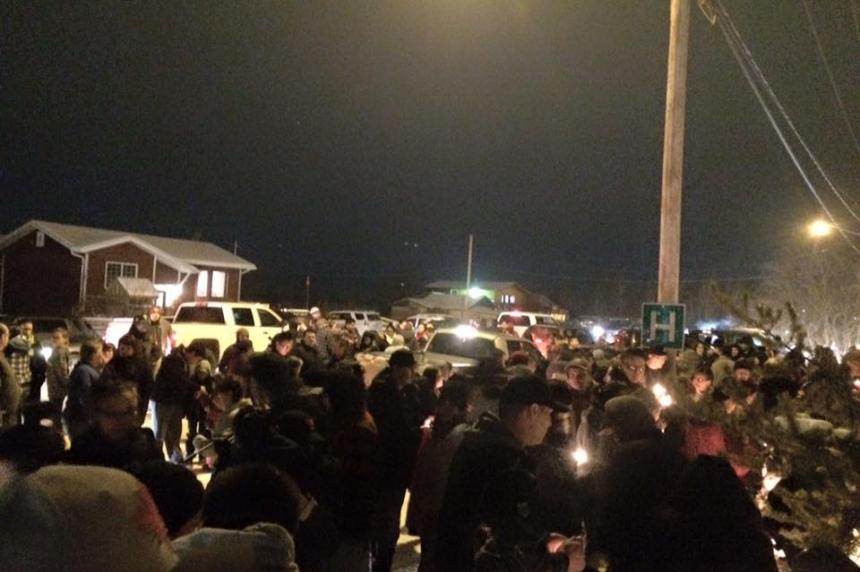 Candlelight Vigil in La Loche