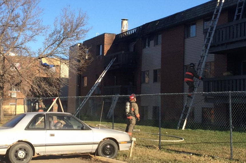 Fire crews investigate apartment blaze on Matheson Drive