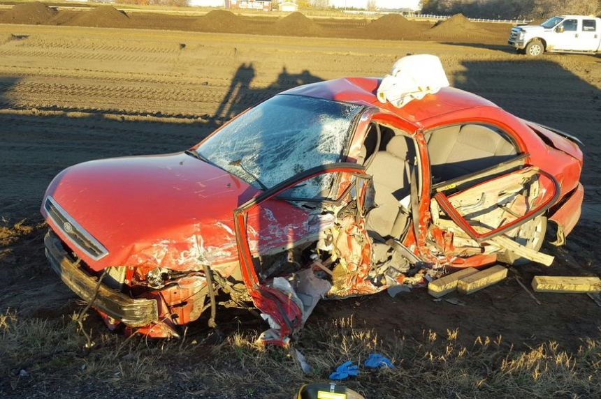 Head-on collision closes Highway 7 Wednesday morning