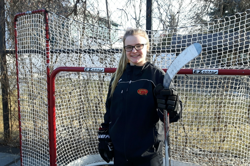 14-year-old Regina girl the top of her hockey league