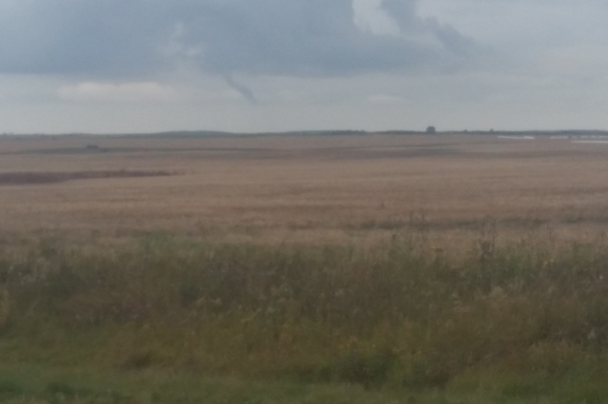 Funnel cloud spotted southwest Pangman, Sask.
