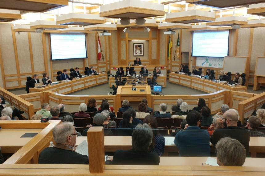Public packs council chambers to hear ideas for Saskatoon's future