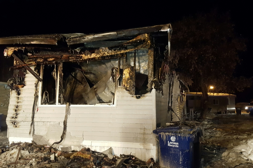 Trailer home fire leaves 50-year-old man in serious condition