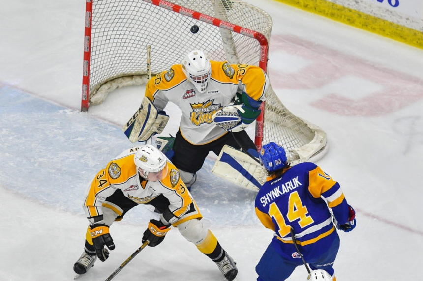 Shynkaruk leads Blades past Brandon, extend playoff hold