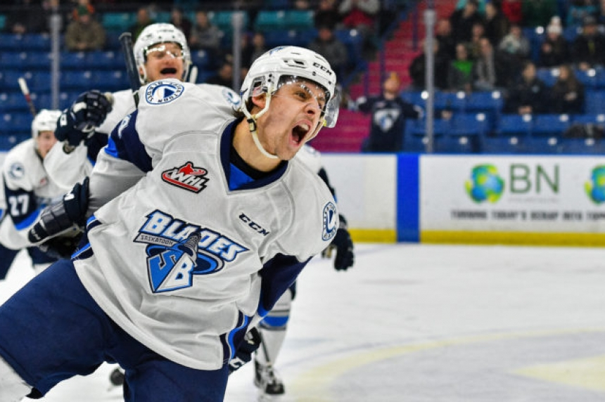 Shynkaruk hat-trick leads Blades past Calgary