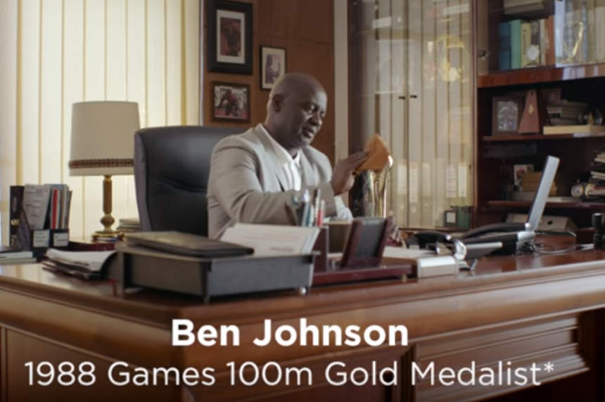 Disgraced sprinter Ben Johnson endorses 'juiced up' app