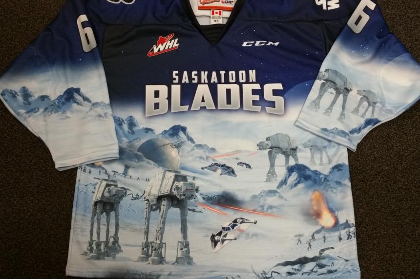 Saskatoon Blades reveal Star Wars hockey jersey