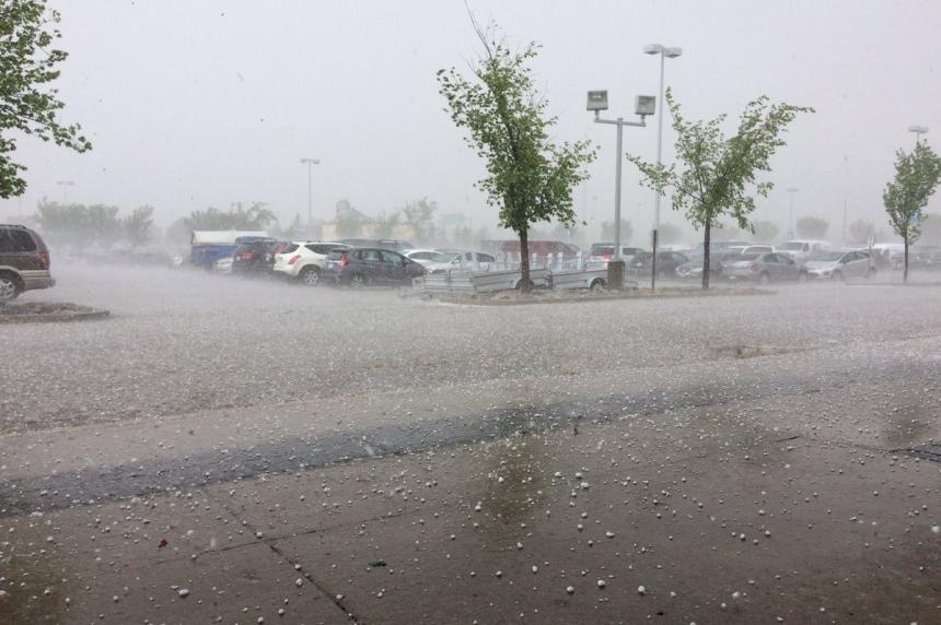 Hail storm hammers parts of Saskatoon
