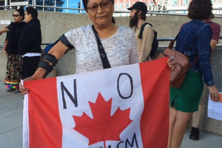 Supporters rally in Regina for Boushie family