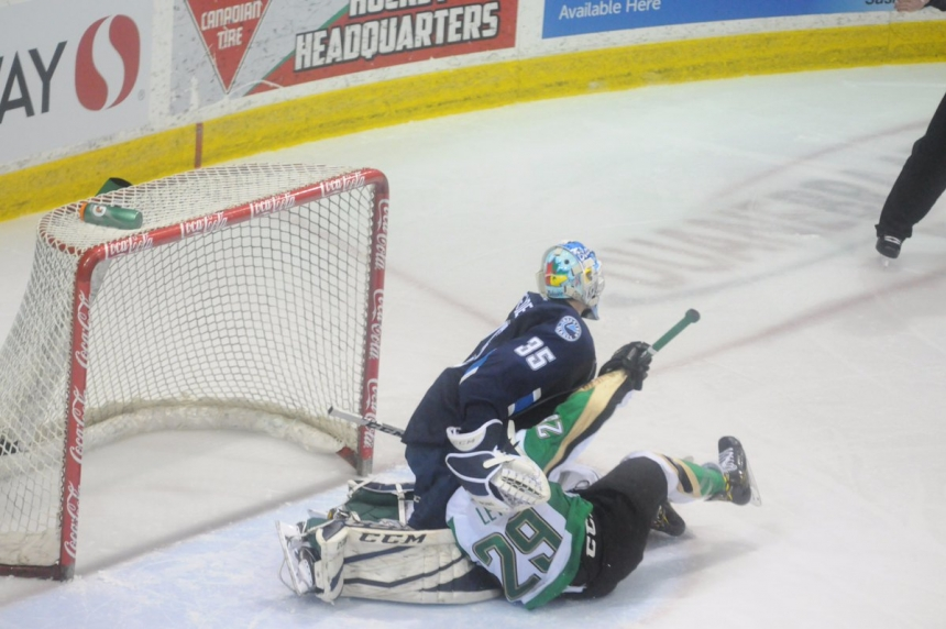 Blades drop tough contest in Prince Albert