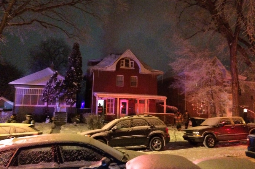 Crews battle house fire in frigid temperatures