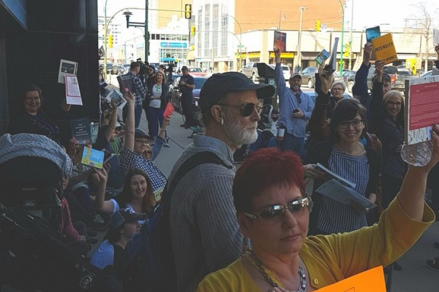 Saskatoon protest draws attention to Sask. library cuts