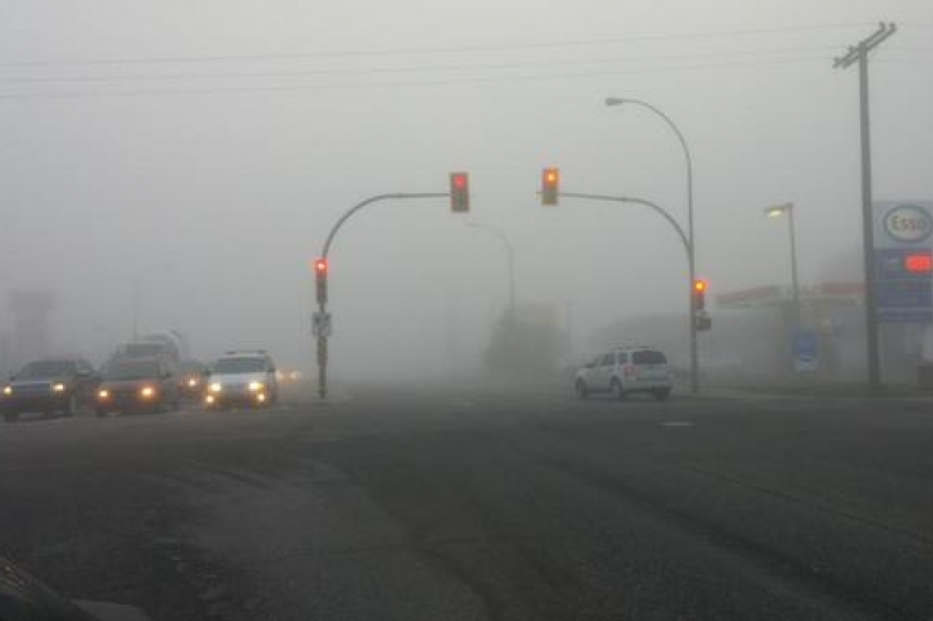 Sask. firefighter escapes injury after near miss on foggy highway