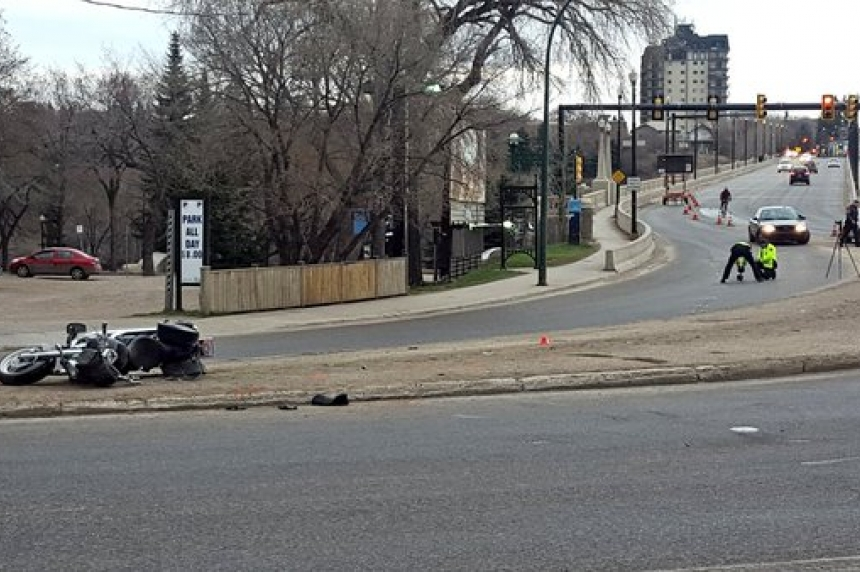 Charges pending in motorcycle crash, rider in hospital