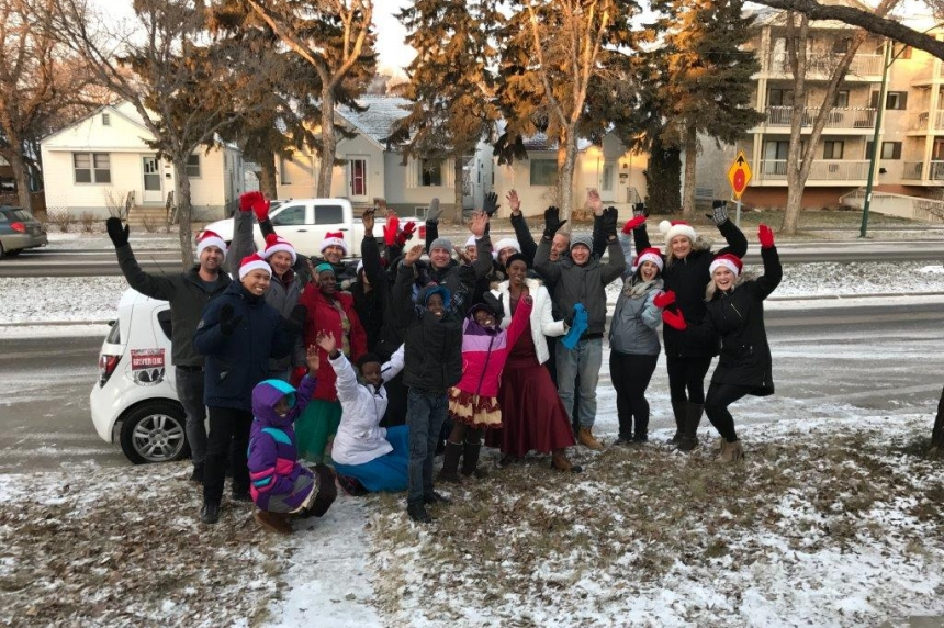 C95 delivers Christmas Wish to refugee family in Saskatoon