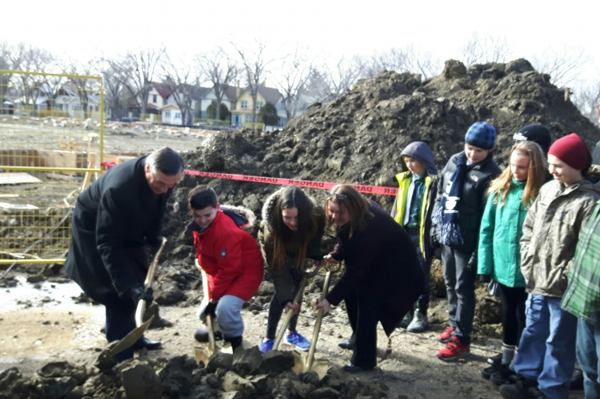 Connaught students return for sod-turning ceremony in Cathedral
