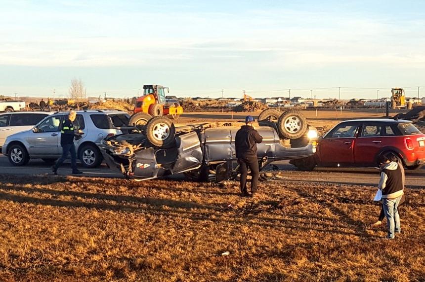 No injuries in four-vehicle crash in Saskatoon
