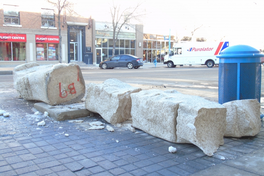 UPDATE: Downtown sculpture knocked over, left in pieces