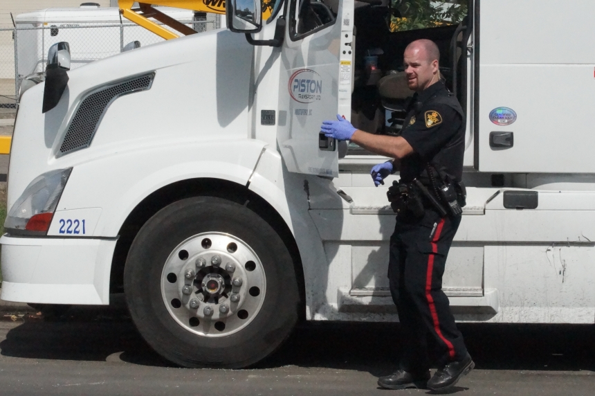 Semi driver found dead inside sleeper cab Monday morning