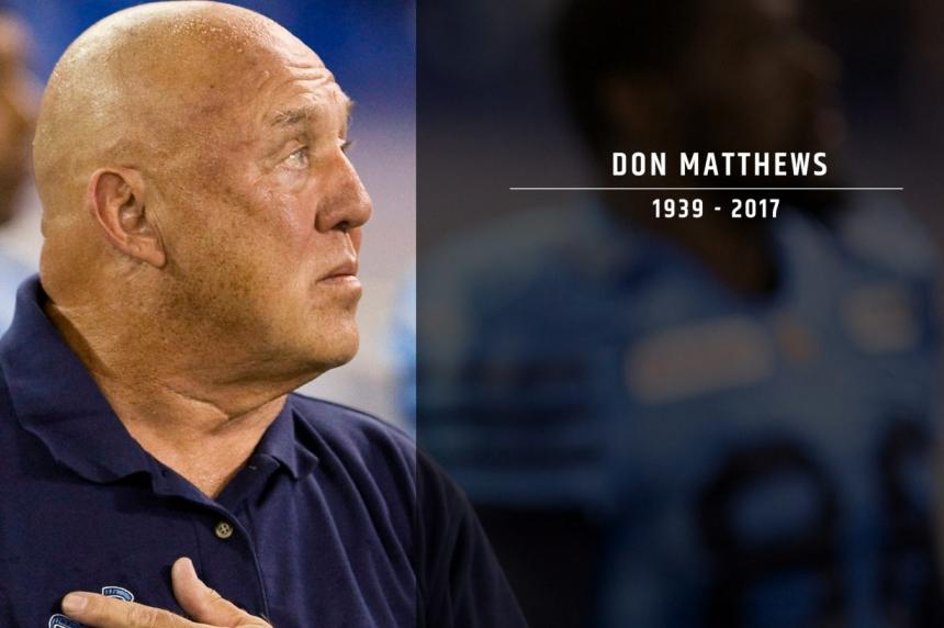 Legendary CFL coach Don Matthews dead at age 77