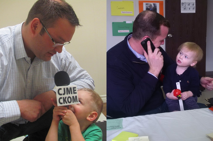 Door knocking & diapers: 2016 election different for campaigning dads