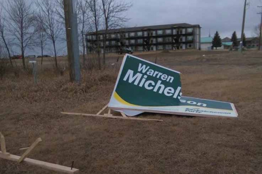 Police investigate campaign sign vandalism in Moose Jaw