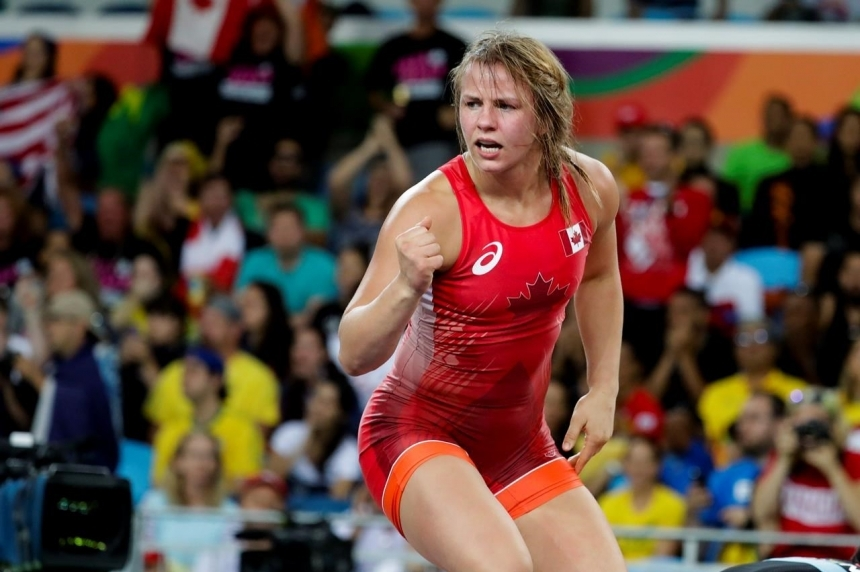 Canadian wrestler Erica Wiebe wins Olympic gold medal