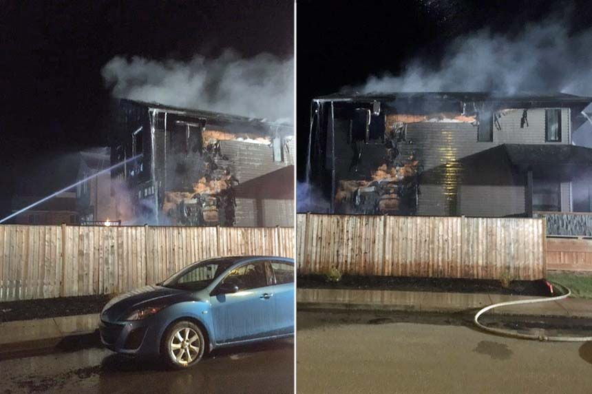 Home heavily damaged in late night blaze