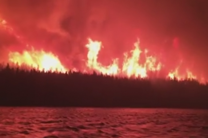 VIDEO: Dramatic video of fires near La Ronge