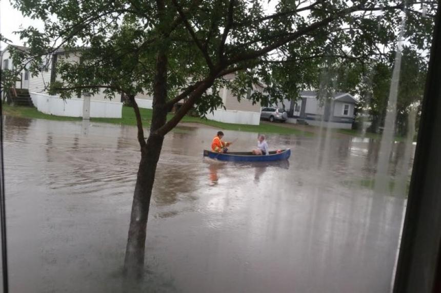 Estevan flooded while heavy rainfall warnings cover province