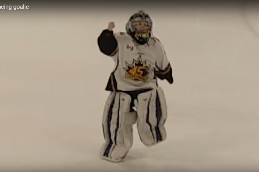 Tiny goalie dances way to viral video fame