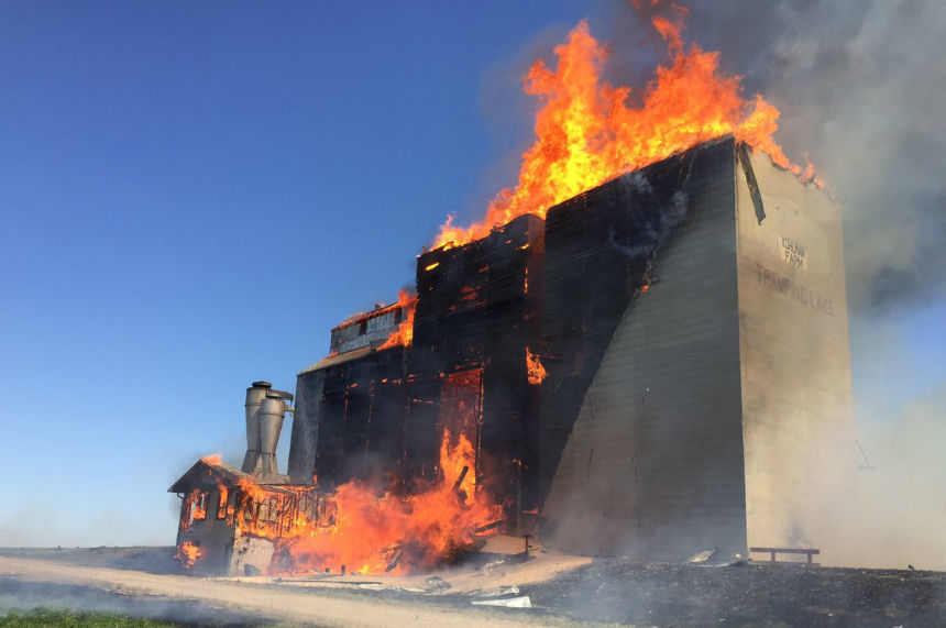 Tramping Lake elevator destroyed by fire