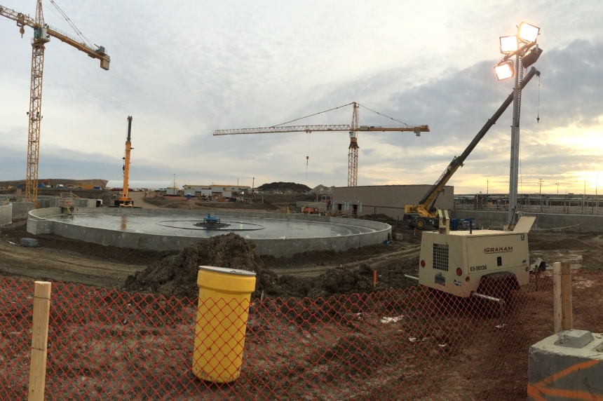 Regina's new wastewater treatment plant is 75% done