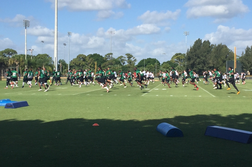 Rider fans show support at Florida mini-camp