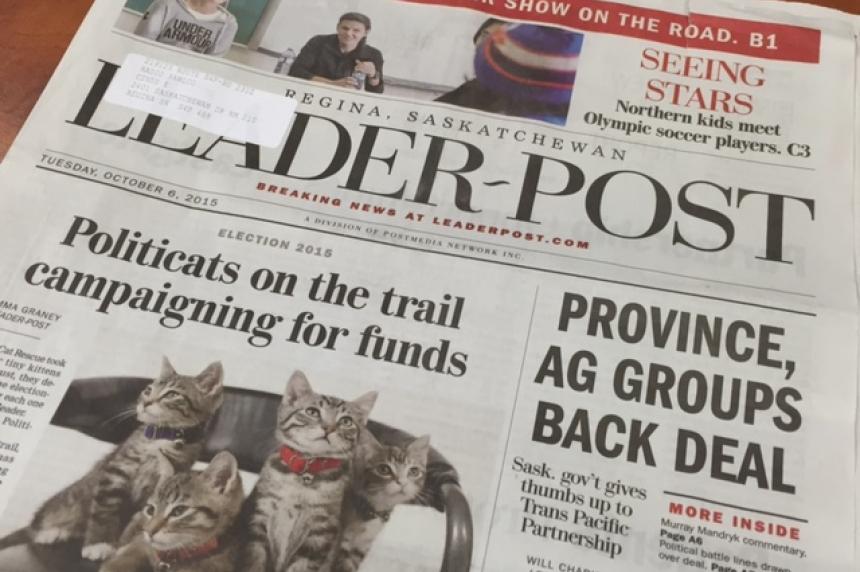 UPDATE: Regina Leader-Post to be printed in Saskatoon