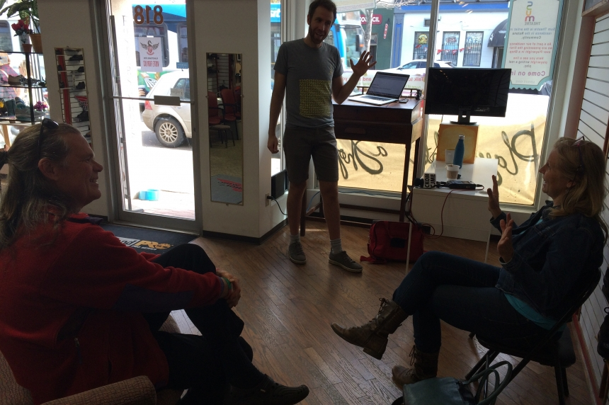 Anyone can write a play: Playwright in a Shop proves it