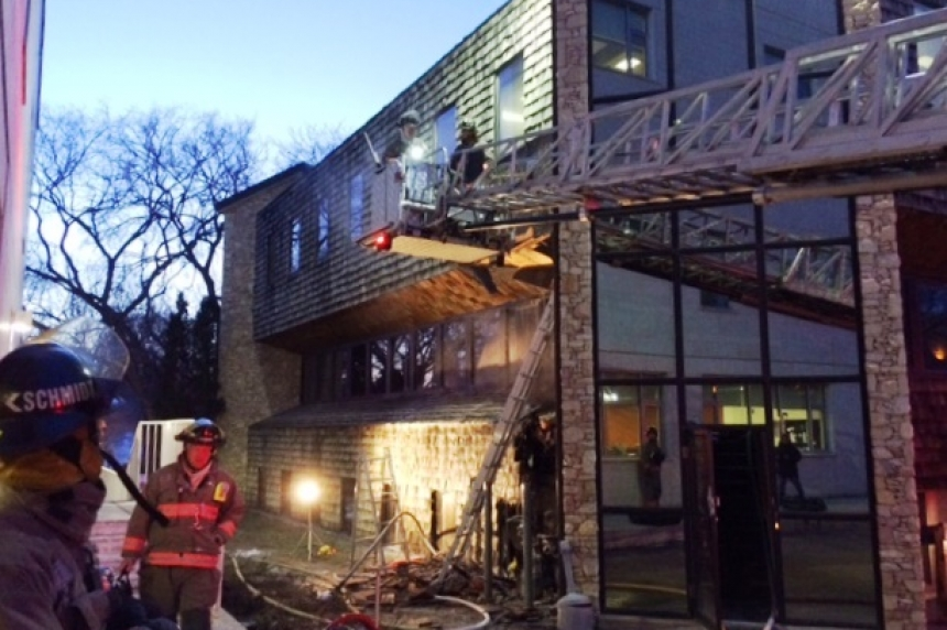 Fire in downtown Saskatoon caused by tossed cigarette