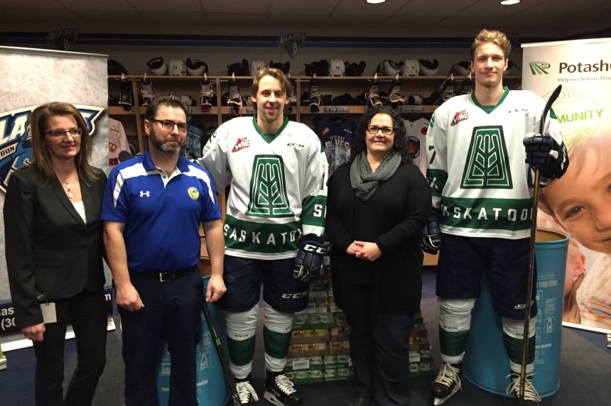 Blades unveil 'I Love Saskatchewan' jerseys in support of food bank