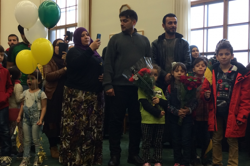 Syrian refugees celebrated at legislature