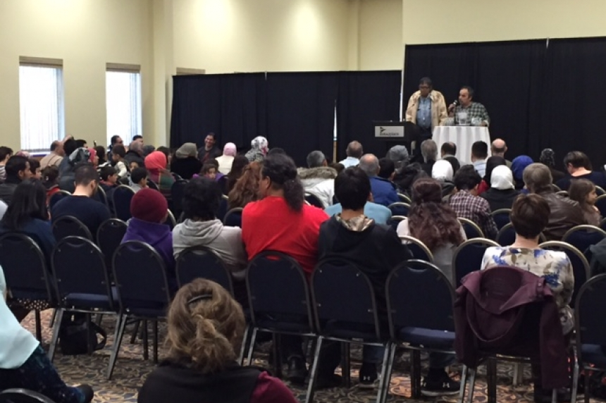 First nations and Syrian refugees meet at welcoming event