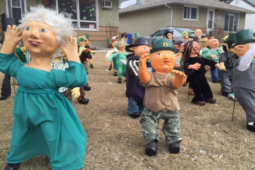 Tiny dolls take over home's front lawn in Regina